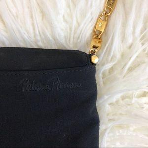 Paloma Picasso Bags - Vintage PALOMA PICASSO Italian black gold purse X